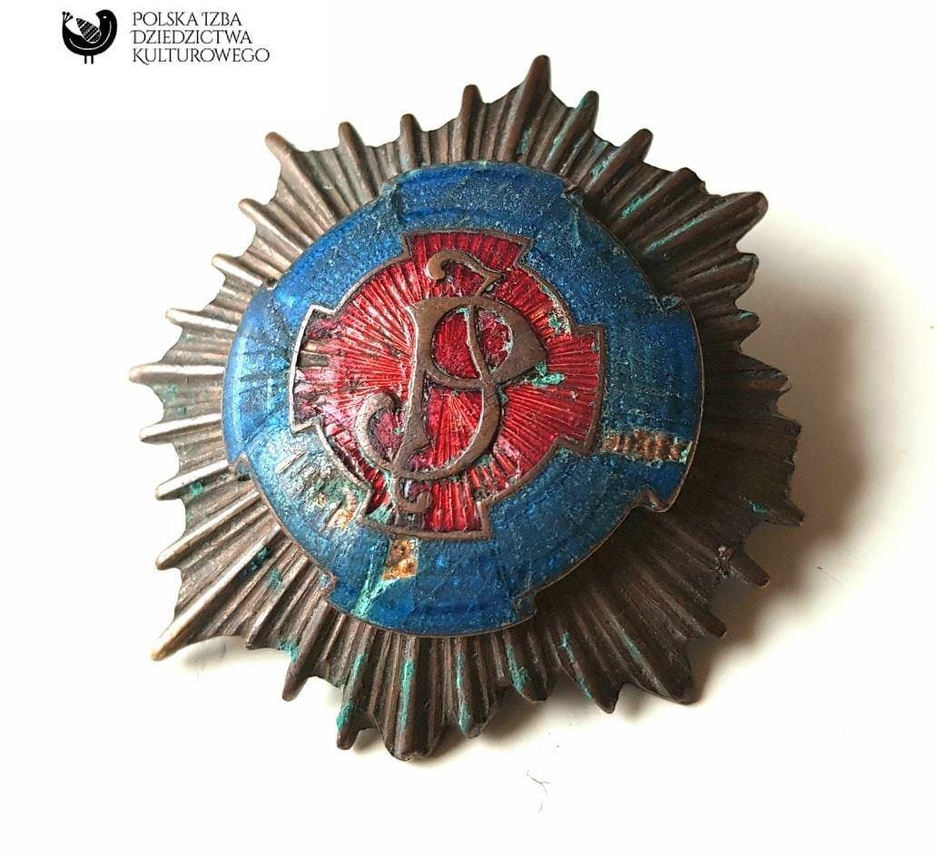 Odznaka 1 pułku Szwoleżerów im. Józefa Piłsudskiego.
